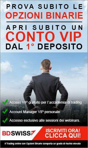 Conto VIP Esclusivo BDSwiss!