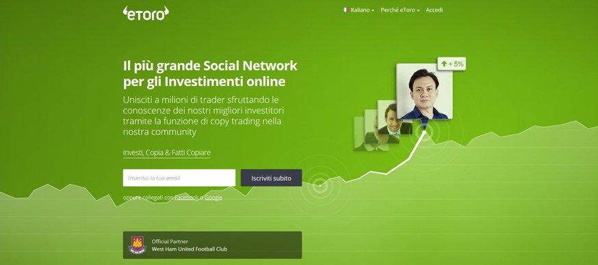 2b00865fa3 eToro broker Social Trading - Guadagnare con il web