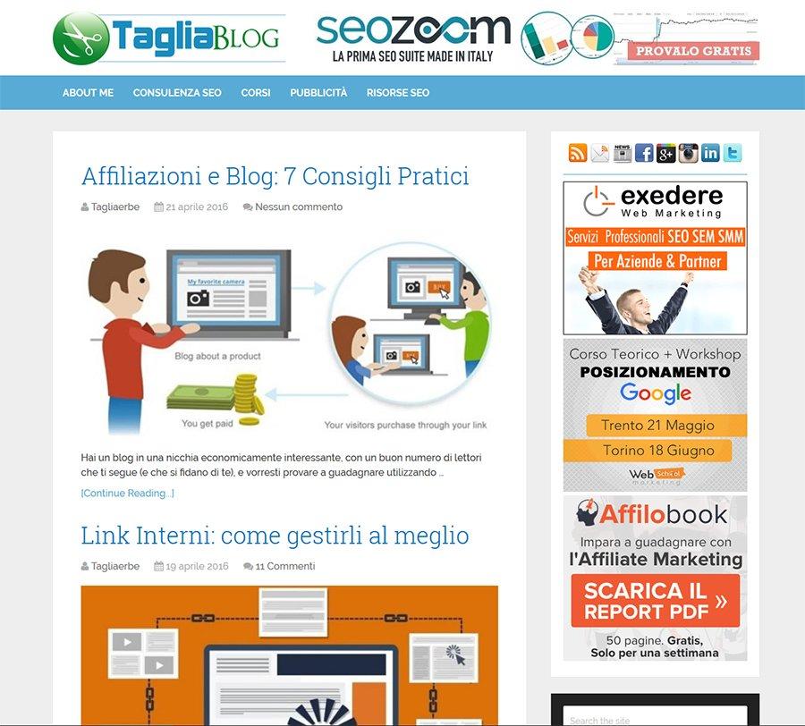 Blog tagliaerbe