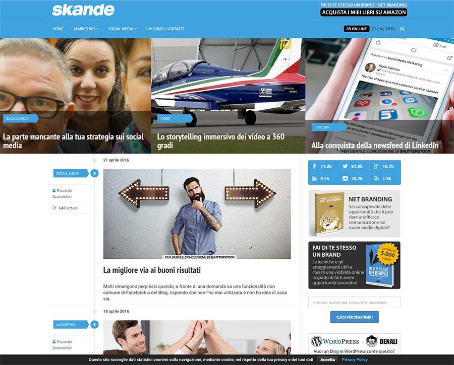 Skande.com blog di successo