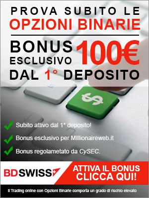Bonus Esclusivo BDSwiss