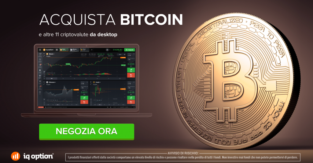 Acquista bitcoin su iQ Option