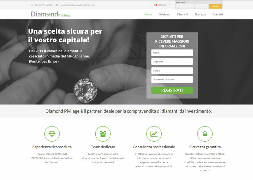 investi in diamanti con Diamond Privilege