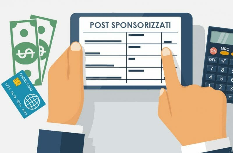 Guadagnare con i post sponsorizzati
