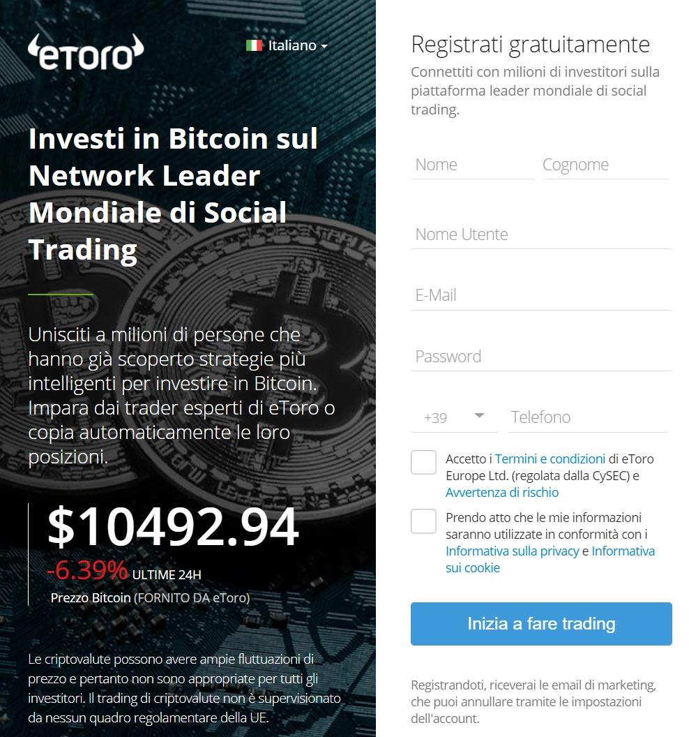 Social Trading Bitcoin con eToro