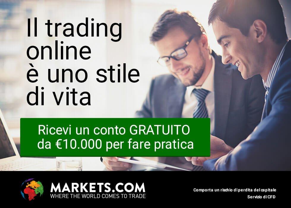 markets.com conto demo gratuito