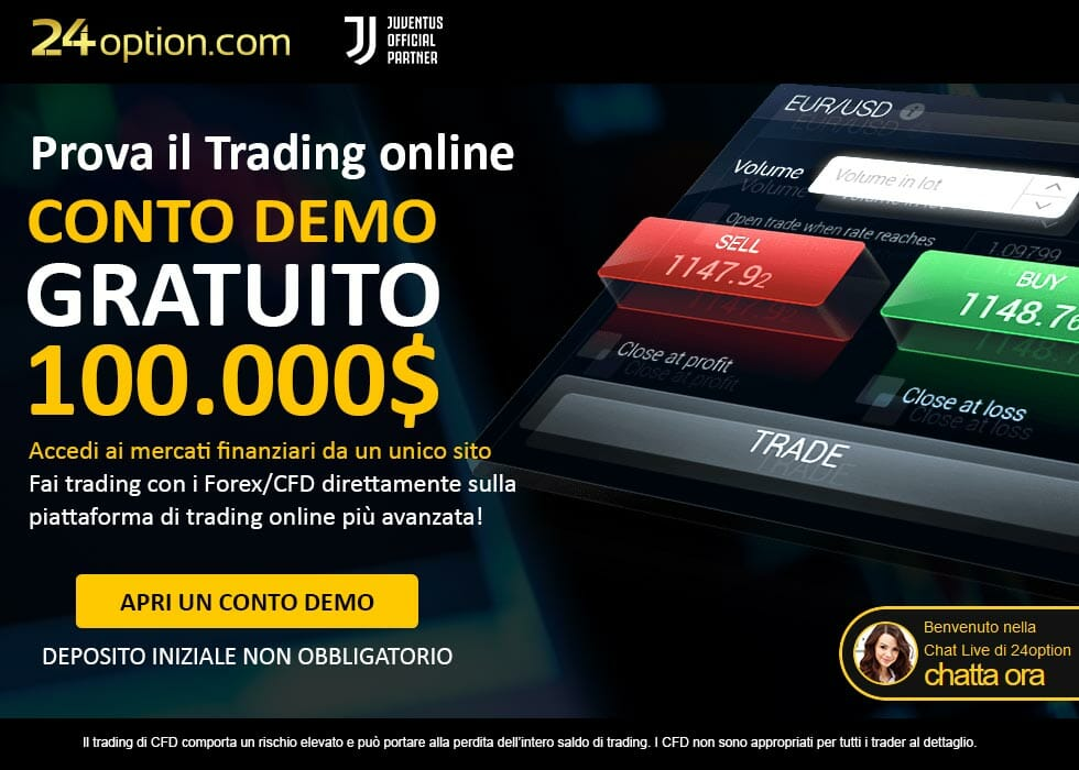 Apri un Conto Demo Gratis su 24option!