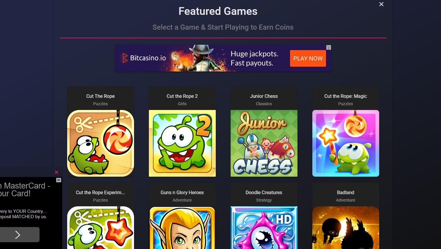 schermata games