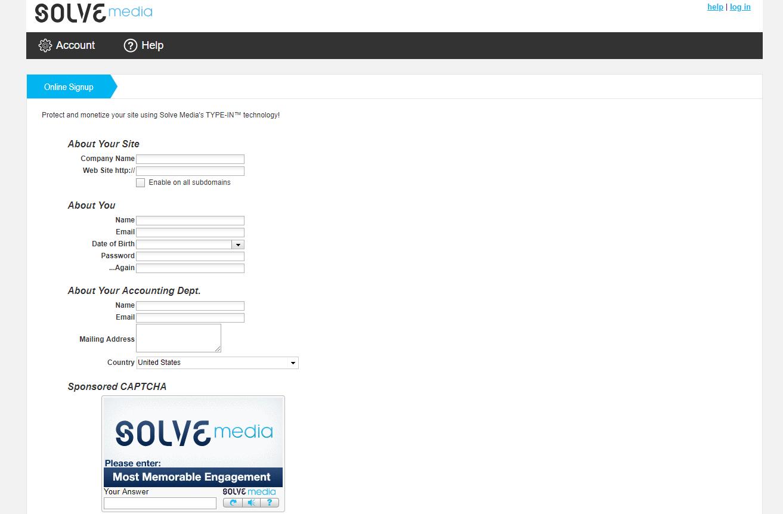solvemedia registrazione