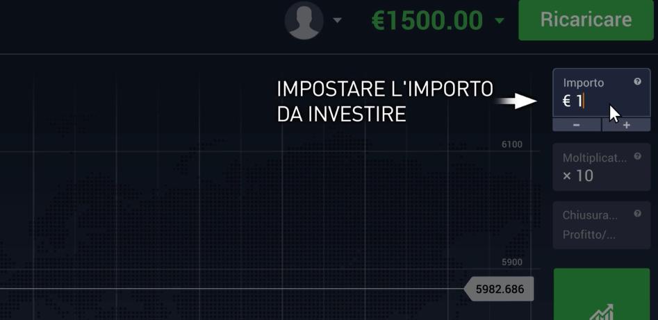 Importo di denaro da investire