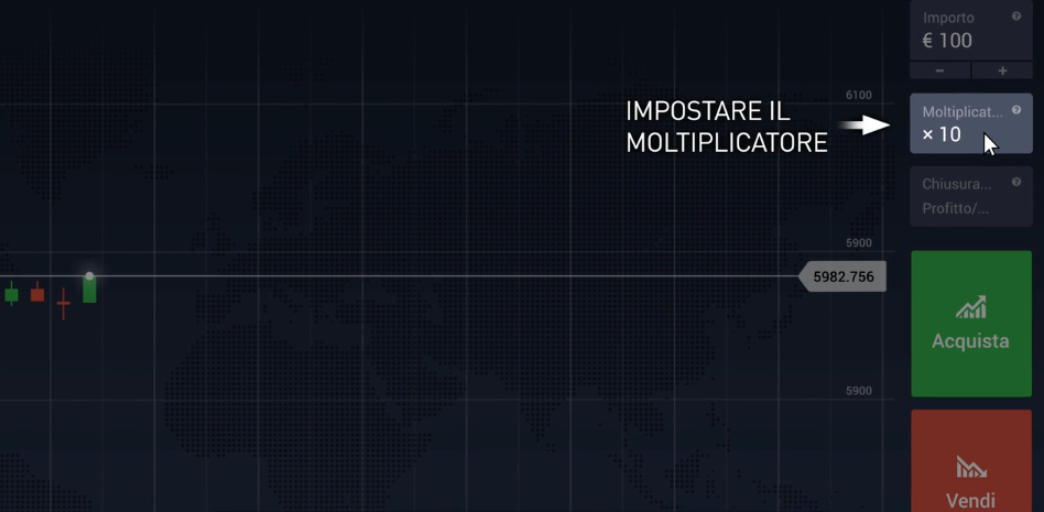 Imposta il Moltiplicatore