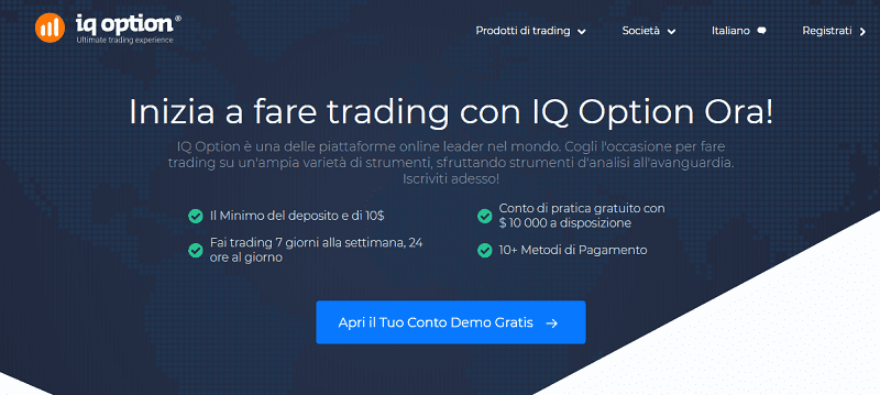 conto demo iqoption