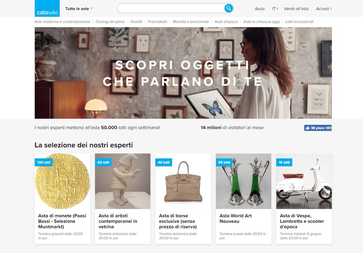 catawiki homepage