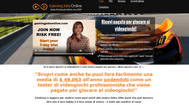 piattaforma gaming jobs online
