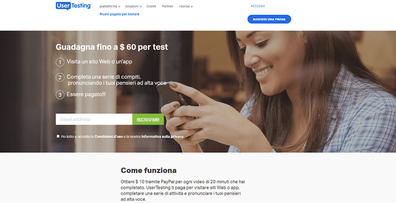 piattaforma usertesting