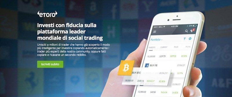 Investire in Bitcoin con eToro
