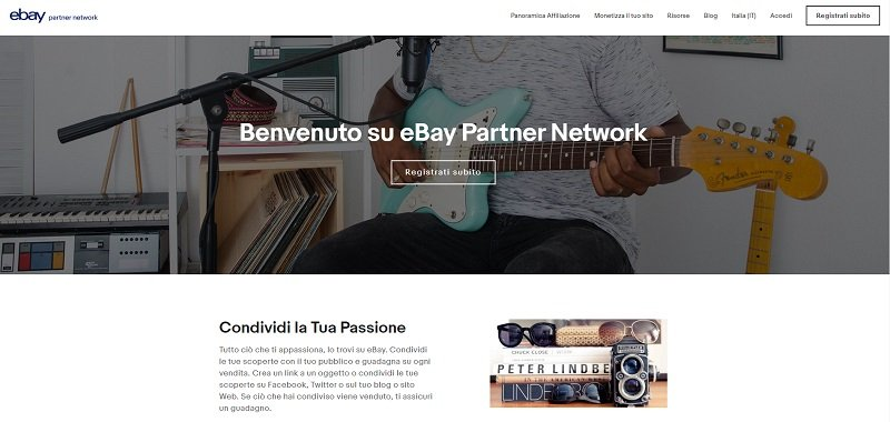 ebay partner network home