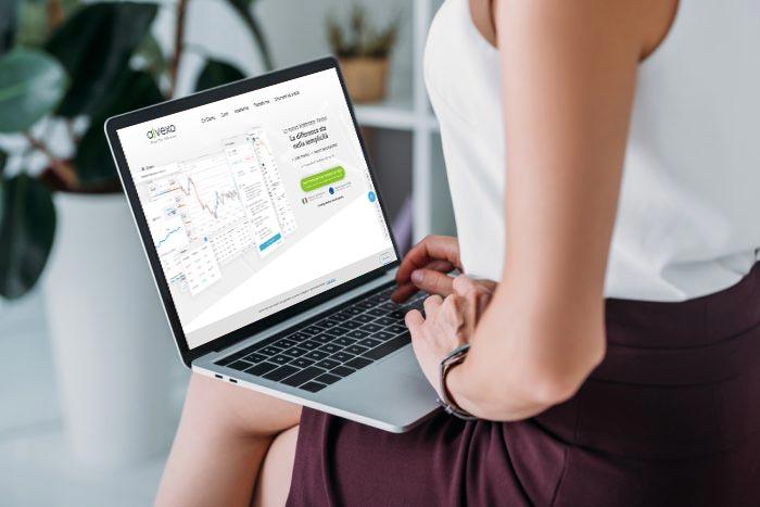 Trading CFD laptop