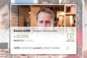 Il Popular Investor di eToro BalanceAM