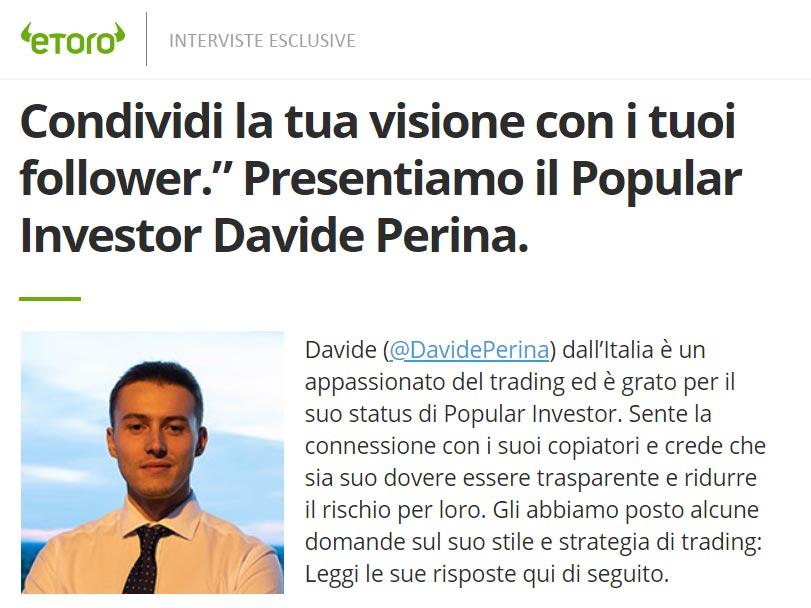DavidePerina intervista esclusiva