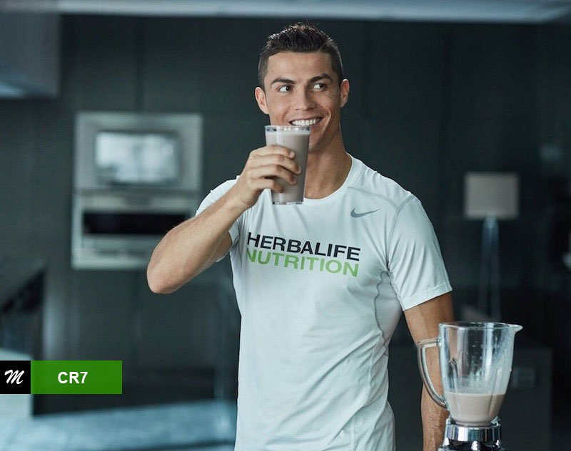 Cristiano Ronaldo sponsor Herbalife