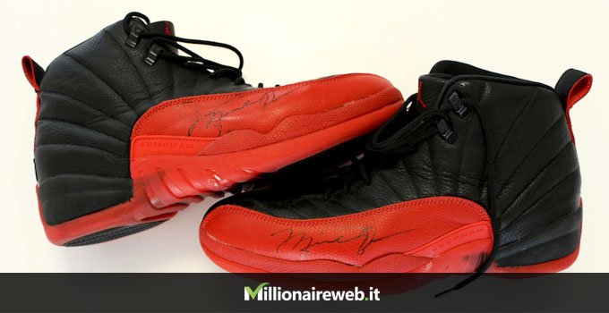 "Air Jordan 12 ""Flu Game"": $104.000"