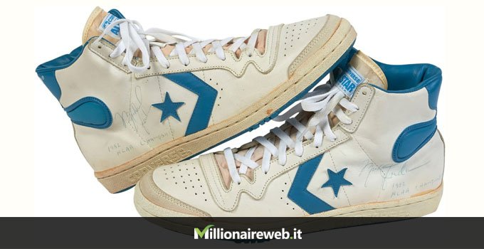 Fast Game Worn Converse fastbreak high di Michael Jordan: $ 190.373
