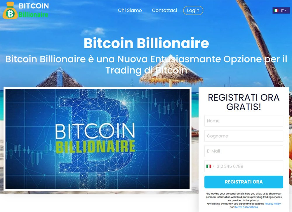 Bitcoin Billionaire Home page