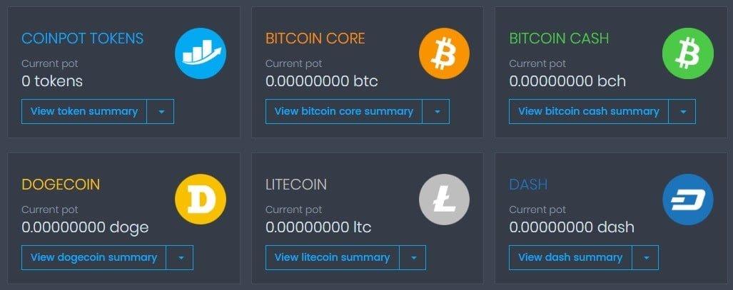 Esempio del Wallet di CoinPot
